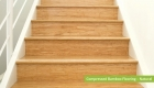 Plantation Bamboo Flooring Products New Zealand - Compressed bamboo flooring shown in natural colour-way used for stairs