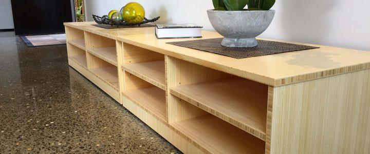 bamboo ply panels - bamboo shelving unit