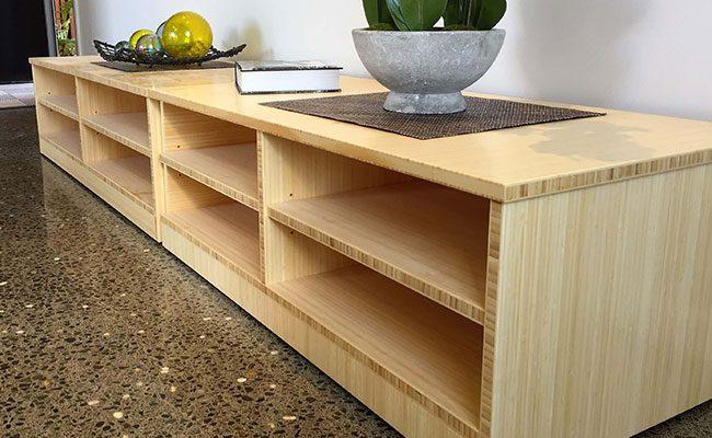 bamboo lounge living room shelving unit